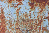 Blue rusty metal — Stock Photo