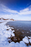 Beautiful bay with icy beach — Stock Photo