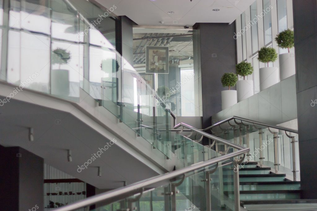 Office Foyer Images : Foyer of an office building — stock photo galinaggm