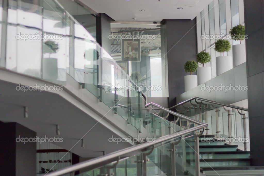 Foyer With Office : Foyer of an office building — stock photo galinaggm