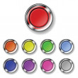 Royalty-Free Stock Vector Image: A set of round buttons