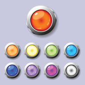 A set of round buttons — Stock Vector