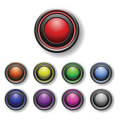 A set of round buttons — Vector de stock
