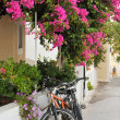 Greek island village alley — Stock Photo