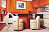 Luxury yacht interior — Stock Photo
