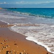 Stock Photo: Long and inviting sandy beach in Mediterranean