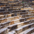 Detail of an ancient Greek theater at Ithomi - Stock Photo