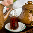 Drinking Traditional Turkish Tea With Friends — Stock Photo #4151539