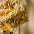 Hanged Dry Organic Corns In A Net — Stock Photo
