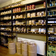 Organic Spices On Shelves In A Spice Market - Stock Photo