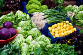 Fresh Organic Vegetables At A Street Market In Istanbul, Turkey. — Stock Photo