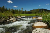 Stormy mountain river — Stock Photo