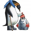 Emperor penguin c the child a penguin. — Stock Photo
