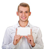 Portrait of a happy young man — Stock Photo