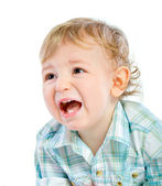 Emotion Happy Cute Baby Boy over white — Stock Photo