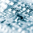Close-up of electronic circuit board, blue toned. — Stock Photo
