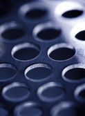 Steel metal background, blue toned. — Stock Photo