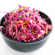 Red cabbage salad — Stock Photo