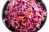Red cabbage slaw up close — Stock Photo