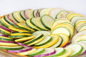 Sliced vegetable ratatouille — Stock Photo