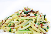 Zucchini & almonds — Stock Photo