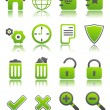 Green icons_1 — Stock Vector