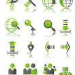 Royalty-Free Stock Vector Image: Green icons_3