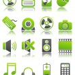 Green icons_4 — Stock Vector