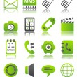 Green icons_5 — Stock Vector