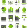 Green icons_6 — Stock Vector