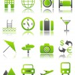 Green icons_9 — Stock Vector