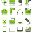 Green icons_11 — Stock Vector