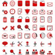 Red icons_1 — Stock Vector
