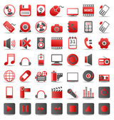 Red icons_2 — Stock Vector