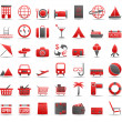 Red icons_3 — Stock Vector
