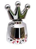 Stahl krone für champagner — Stockfoto