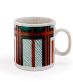 Striped small cup — Stock Photo