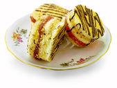 Cake on the dish — Stock Photo
