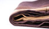 Brown bath towel — Stock Photo