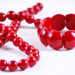 Stock Photo: Red beads and bracelet