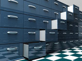 Filing Cabinets — Stock Photo