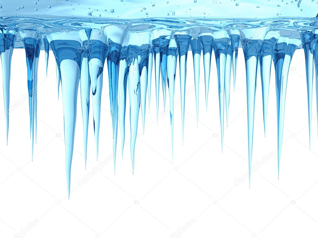 Stock Photo Icicles on Clip Art Numbers 1000