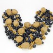 Blueberry Walnut Heart — Stock Photo