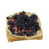 Blueberry Almond Butter Toast — Stock Photo