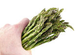 Handful of Asparagus — Stock Photo