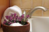 Bath Flowers — Stock Photo