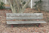 Weathered Park Bench — Stock Photo