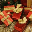 Wrapped Presents in Red — Stock Photo