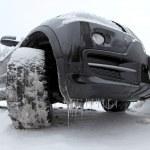 氷のような suv 車 — ストック写真