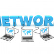 Multiple Wired to Network — Stock Photo